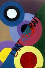 Improvisation 1960' - Oil on Paper - Sonia Delaunay