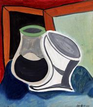 Table with Window - Oil on Paper - Juan Gris 1919'