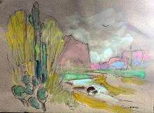 Original Watercolor by Michael Schofield