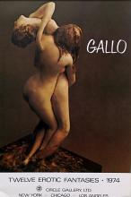 Gallery Poster Twelve Erotic Fantasies, 1974 after Gallo