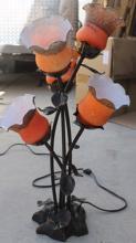 Table Top Orange Tulips Decorative Lamp