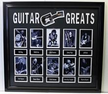 Guitar Greats - Custom Framed Memorabilia