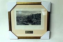 H.W. Leader - On the Llugy, North Wales - Original Woodblock