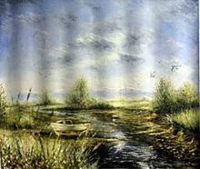 V. Levieils - Mouettes Proche du Rivage - Original Acrylic on Canvas