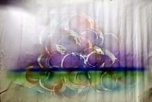 Grapes on Water - Original Mixed Media on Canvas