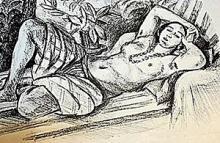 Lithograph Odalisque Au Magnolia after Henri Matisse