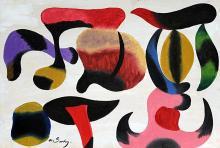 Improvistation 1930' Oil on Paper - Arshile Gorky