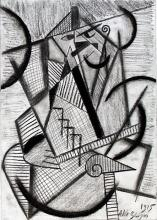 Man and Table 1915' - Drawing on Paper - Albert Gleizes