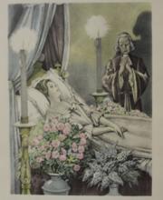 Lithograph - Priest with Bridge - Legrand