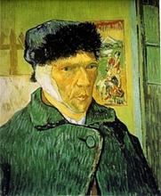 Lithograph Self Portrait with Bandaged Ear - Vincent Van Gogh
