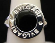 Fancy Silver Signed BVLGARI  Designer Ring (212I)