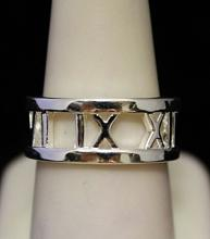 Gorgeous Roman Numeral Silver Band (294I)
