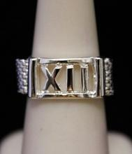 Gorgeous Roman Numeral Silver Band (301I)