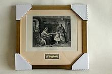 M. Ritscher - The Visit of the Foster Child - Original Woodblock