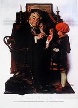 Print Doctor and Doll - Norman Rockwell