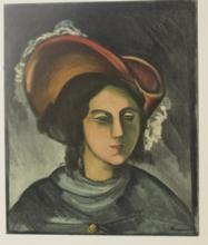Lithograph - Portrait of Madeleine - Planche