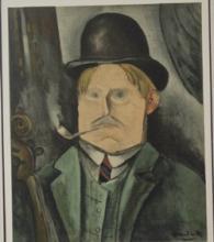 Lithograph - Portrait of the Artist - Planche
