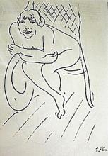 Lithograph Nu Au Rocking Chair after Henri Matisse