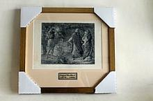 T.M. Rooke - Elijah, Ahab and Jezebel in Naboth's Vineyard - Original Woodblock
