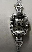 Lavish Antique Concord Diamonds & Baguettes Platinum Watch