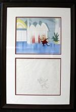 Original Pink Panther Character Sketch & Production Cel
