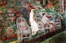 Two Womans 1880' - Pastel Drawing - Berthe Morisot