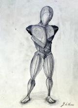 Gladiator 1971' - Drawing on Paper - Giorgio De Chirico