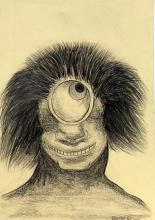 Untitled - Drawing on Paper - Odilon Redon