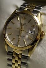Men's 14K Oyster Perpetual Date Rolex Watch