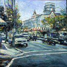 View of Town Hall - Original Oil by Jorn Fox