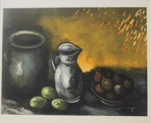 Lithograph - Still Life with Jugs - Planche