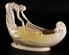 Zsolnay Fisher Girl Offering Bowl