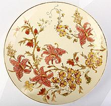 Zsolnay Dish with Flower Decoration
