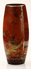 Zsolnay Vase with Landscape Decoration