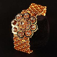 Biedermeier gold bracelet