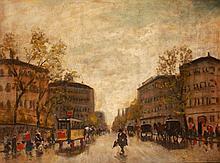 Antal Berkes (1874-1938): Street in Pest