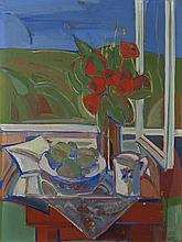 Levente Baticz (1941): Still life with flowers