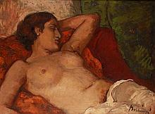 Viktor Belányi (1877-1955): Lying Nude