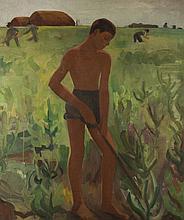 Edit Basch (1895-1980): Hoeing