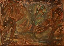 Endre Bálint (1914-1986): Trees at the Lake