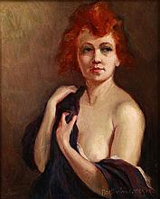 Brettschneider Rudolf: Nude with purple veil