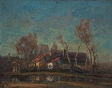János Bozsó (1922-1998): Homestead on the Waterside