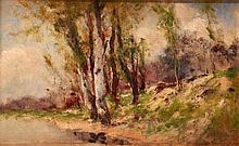István Bosznay (1868-1944): Trees at Waterside