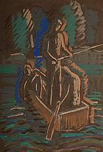 Pál Bor (1889-1982): Midnight Fishing