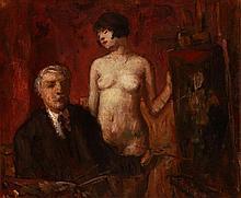 Béla Iványi Grünwald (1867-1940) Painter and his Muse