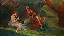 Géza Lápossy Hegedűs (1875-1929) Nymphs and satyrs