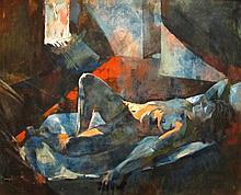 Rudino Bér (1973) Blue Nude