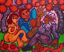 Endre Bartos (1930-2006) Under Apple Tree