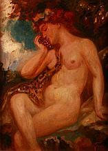 Viktor Tardos Krenner (1866-1927) Nude with Grape