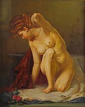 Lajos Polczer (1902-1968) Kneeling Nude